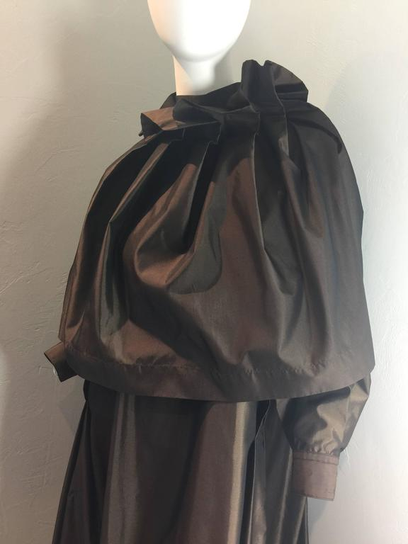Black Issey Miyake Gown Late 1980's For Sale