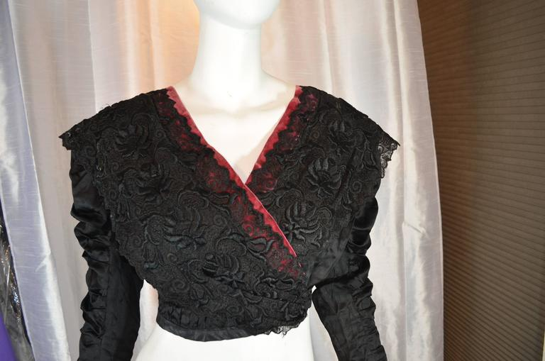 Black Victorian Lace Blouse For Sale At 1stdibs