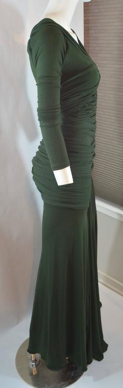 Women's Donna Karan  Black Label Jersey Gown For Sale