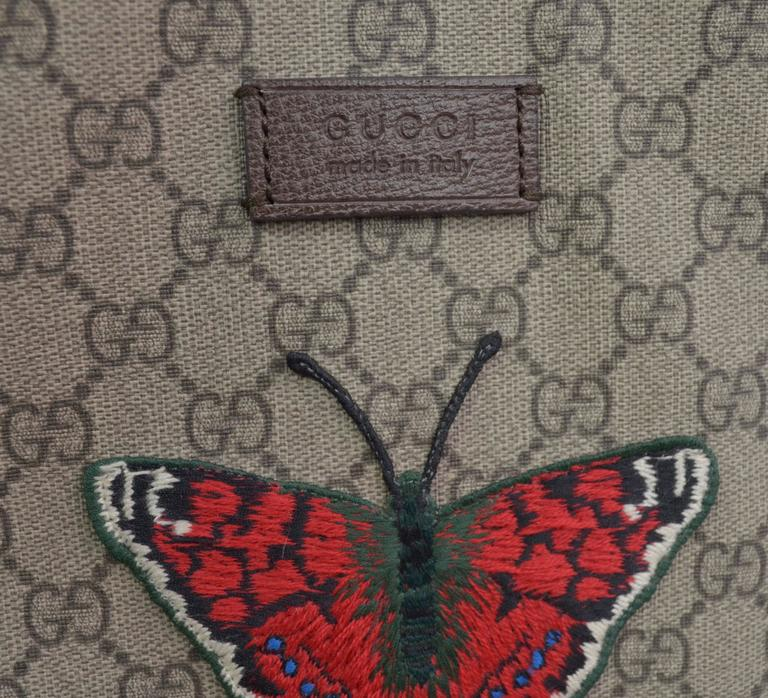 Gucci Supreme Embroidered Butterfly Tote 2016/7 For Sale 5