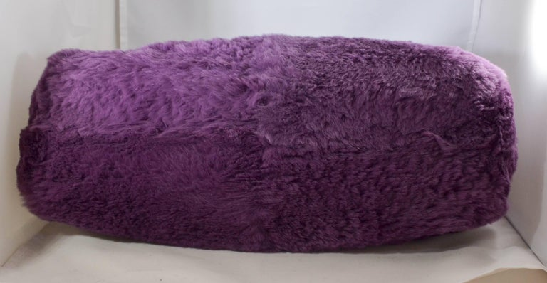 Chanel Lapin Fur Purple Tote For Sale 3