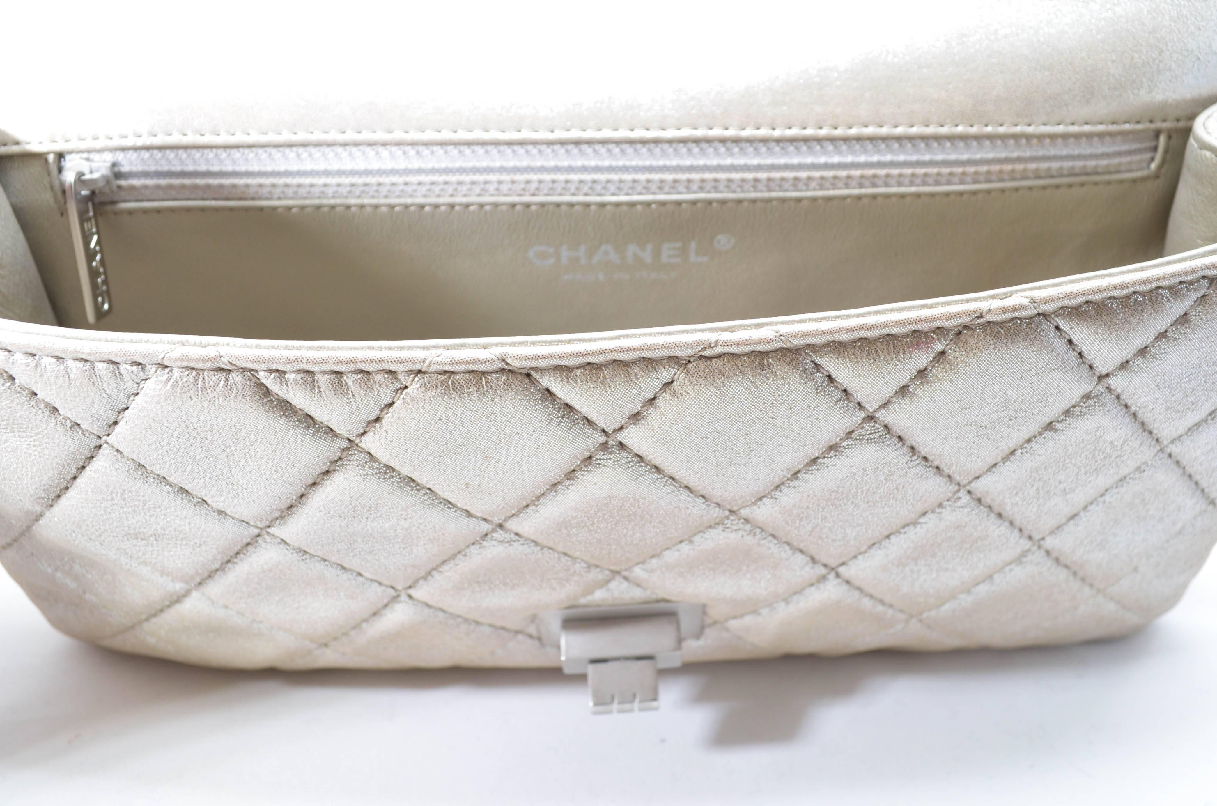 528e1c19e847f5 Chanel Reissue Metallic Quilted Clutch 2012 at 1stdibs