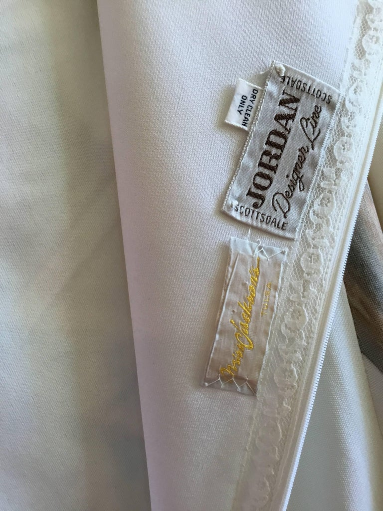 Women's Hand Painted Jersey Kaftan Dress For Sale