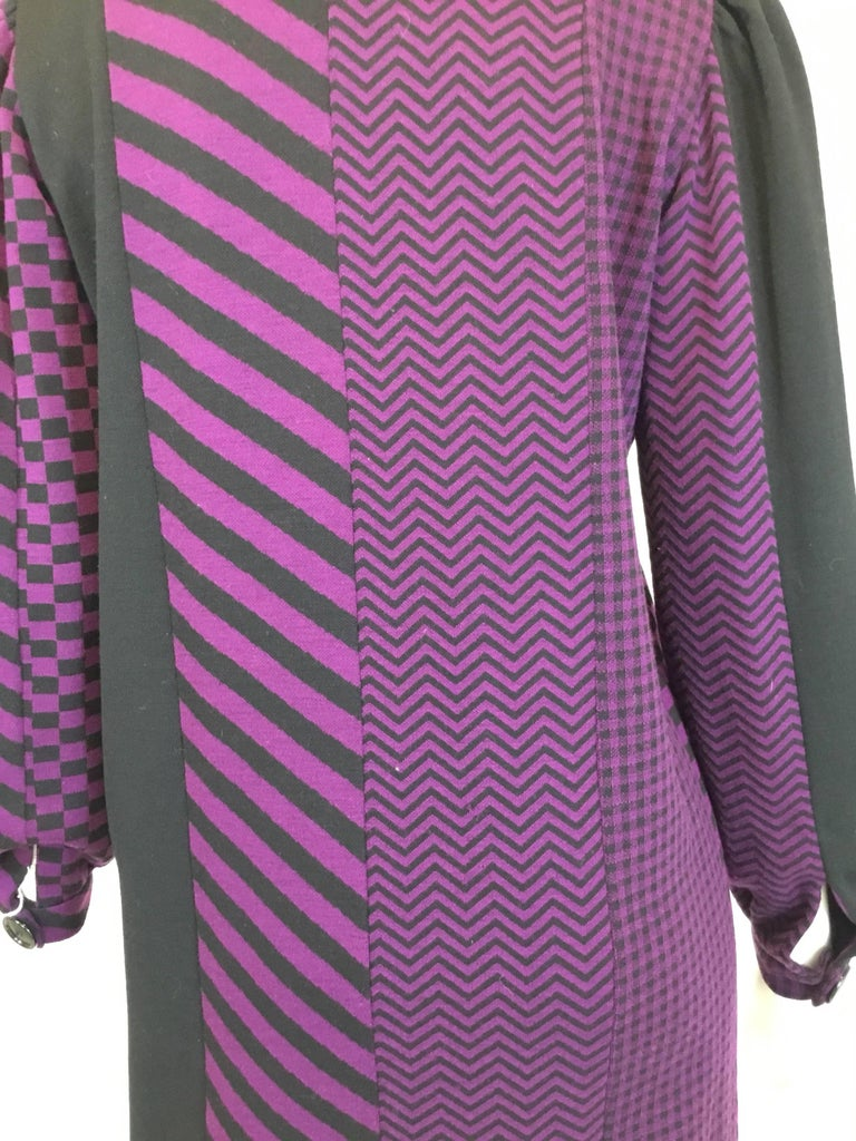Rudi Gernreich 70's Vintage Wool Knit Multi-pattern Dress  In Excellent Condition For Sale In Carmel by the Sea, CA