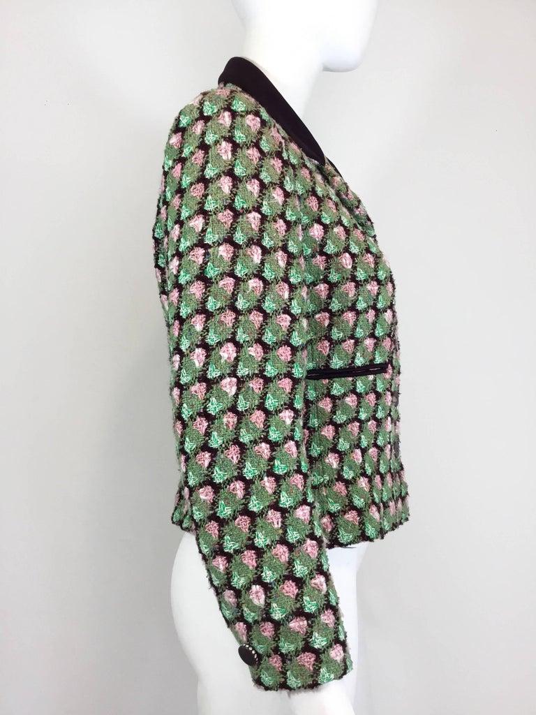 Black Chanel 02P Tweed Jacket  For Sale