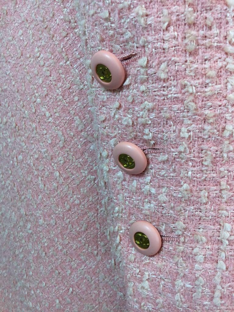 Women's Chanel Pink Vintage Open Long Jacket For Sale