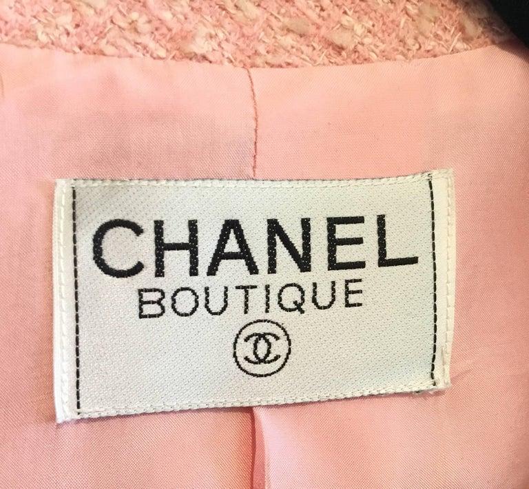 Chanel Pink Vintage Open Long Jacket For Sale 1
