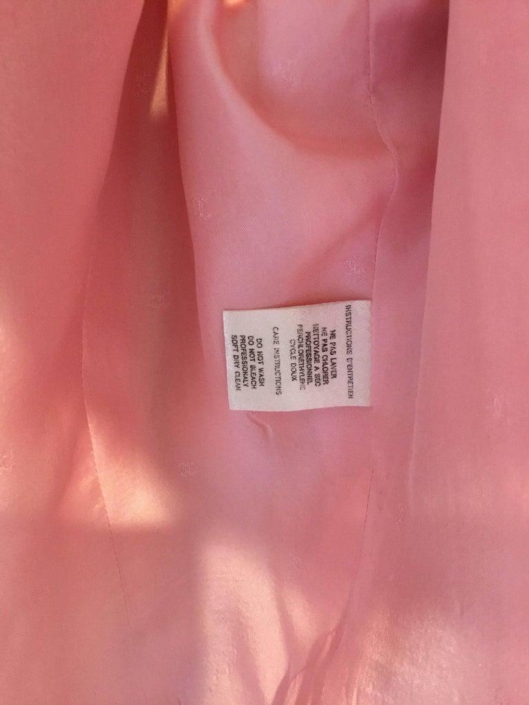 Chanel Pink Vintage Open Long Jacket For Sale 2