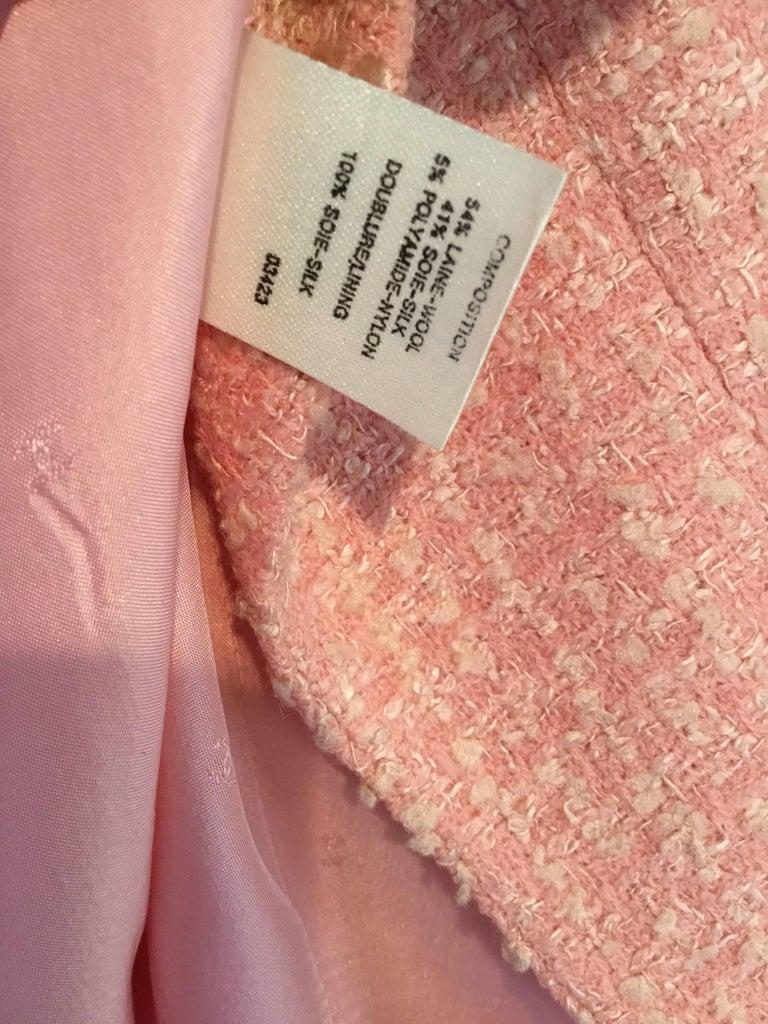 Chanel Pink Vintage Open Long Jacket For Sale 3