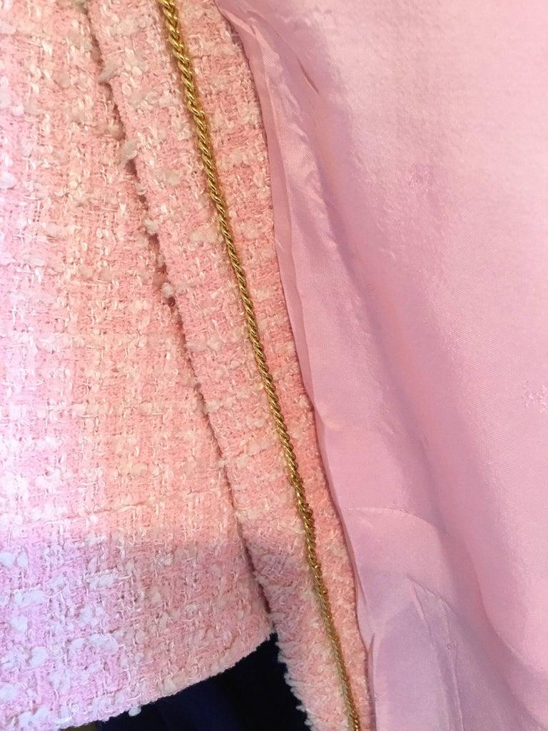 Chanel Pink Vintage Open Long Jacket For Sale 4