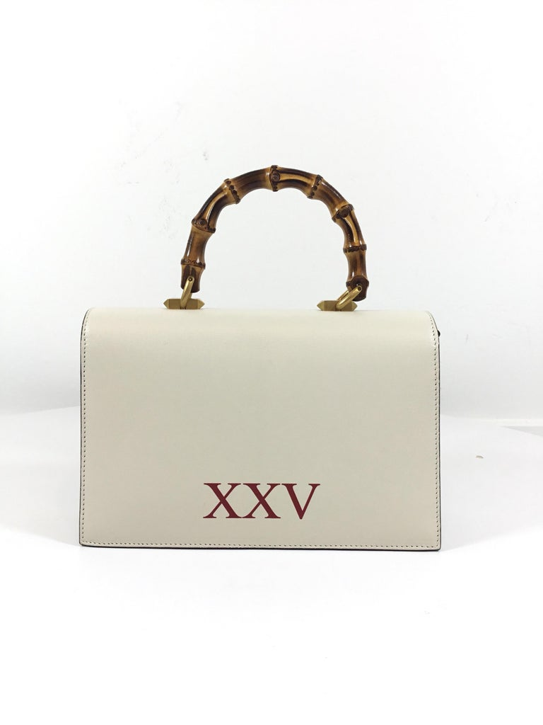 8c982bc5be3 Women s Gucci Ottilia Bamboo and Chain Top Handle Bag For Sale