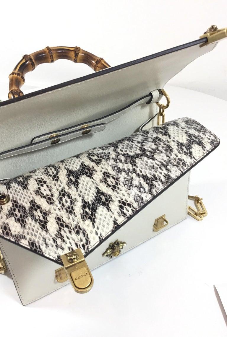 ec1025eaba7 Gucci Ottilia Bamboo and Chain Top Handle Bag at 1stdibs