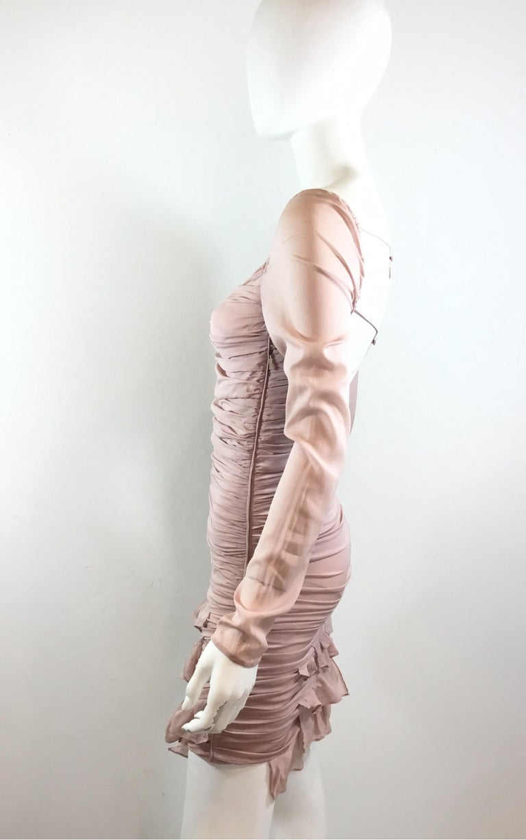 Tom Ford for Gucci Ruched Dress, 2003 Spring Runway In Excellent Condition For Sale In Carmel by the Sea, CA
