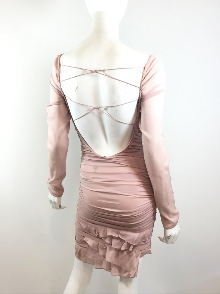 Women's Tom Ford for Gucci Ruched Dress, 2003 Spring Runway For Sale