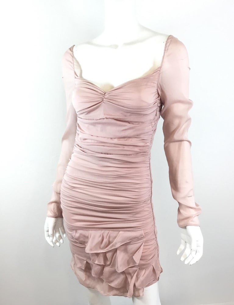 Tom Ford for Gucci Ruched Dress, 2003 Spring Runway For Sale 2