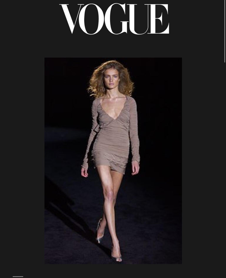 Tom Ford for Gucci Ruched Dress, 2003 Spring Runway For Sale 3