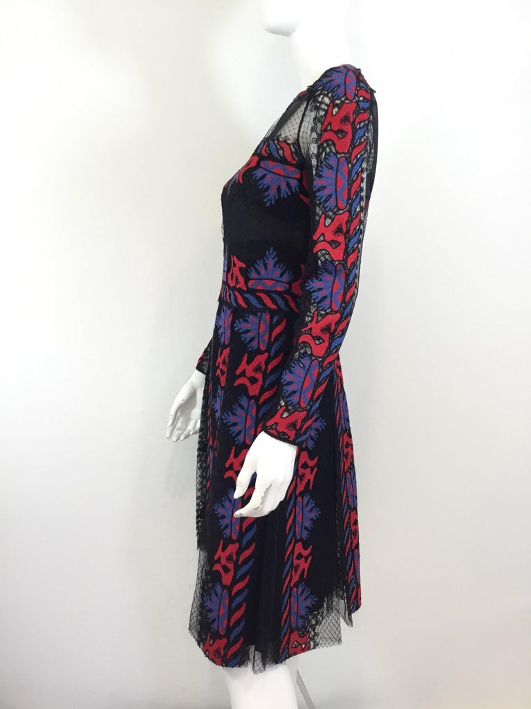 Valentino Embroidered Dress, Runway Spring Summer 2014 In Excellent Condition For Sale In Carmel by the Sea, CA