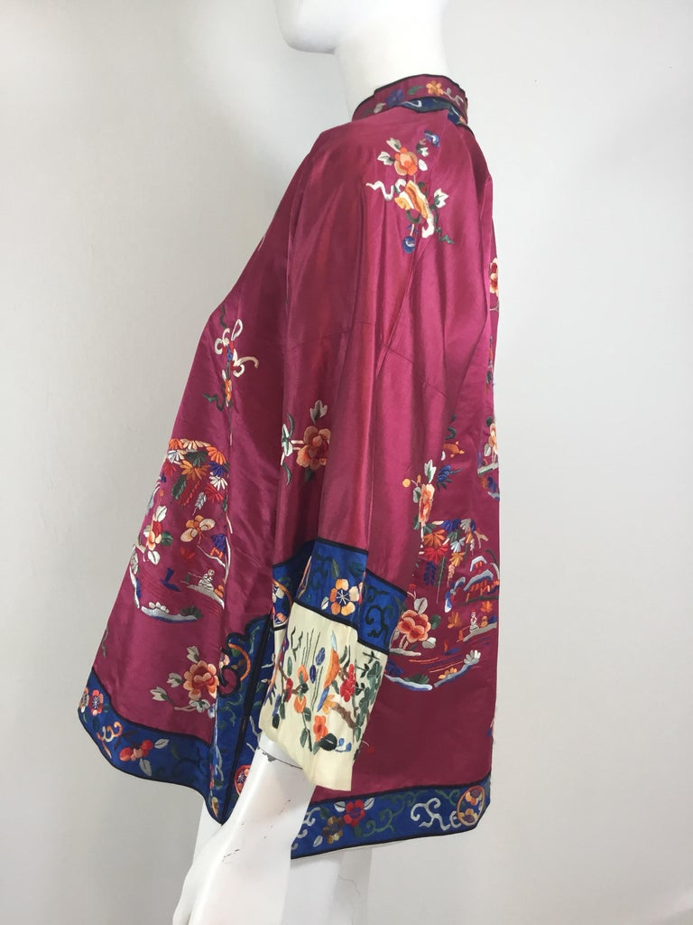 5a009e0f2 Chinese Silk Embroidered Jacket, Circa 1920 For Sale at 1stdibs