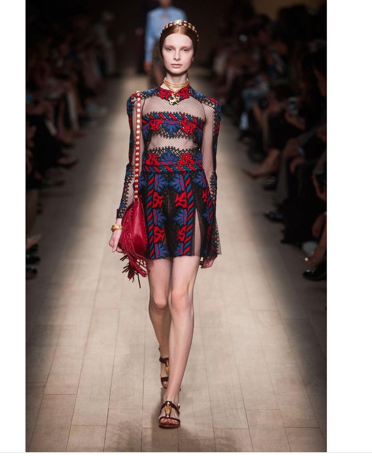 Valentino Embroidered Dress, Runway Spring Summer 2014 For Sale 4