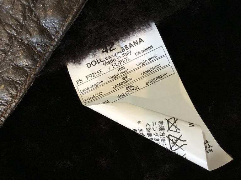 Dolce & Gabbana Shearling Hooded Jacket  For Sale 1
