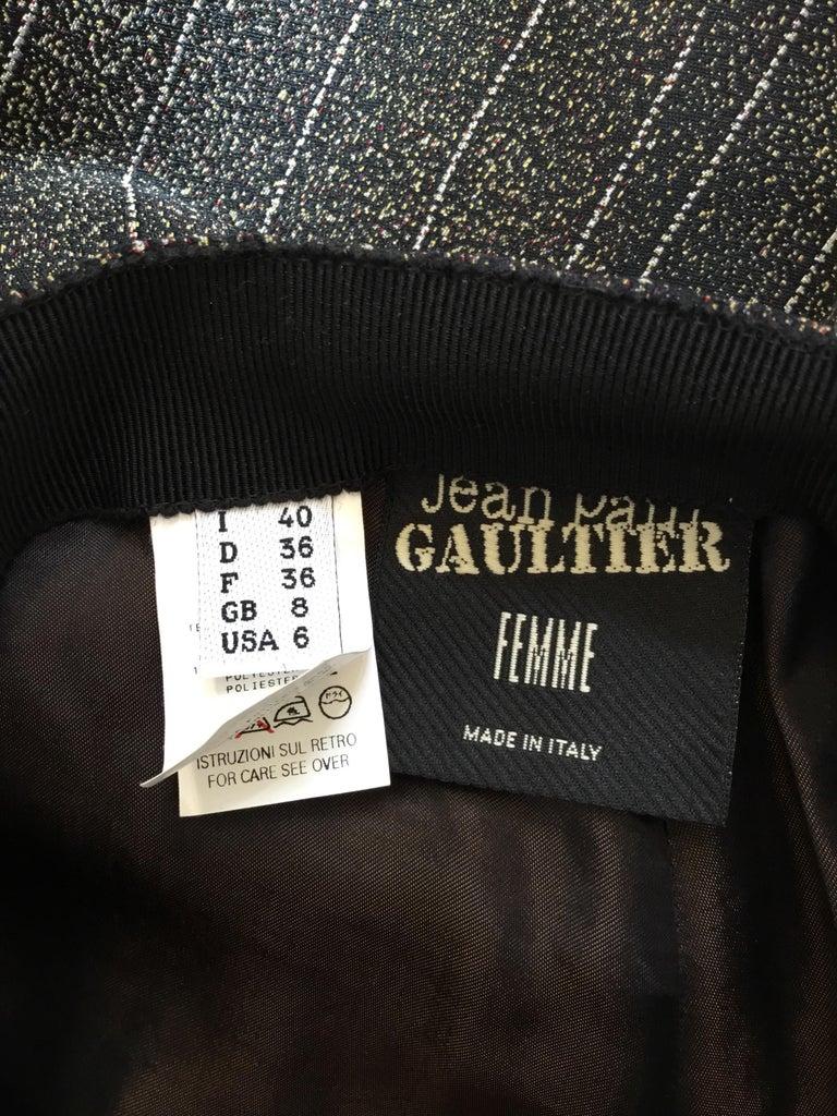 Women's Jean Paul Gaultier Pinstriped Pants on Pants For Sale