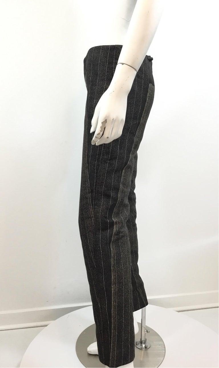 Black Jean Paul Gaultier Pinstriped Pants on Pants For Sale