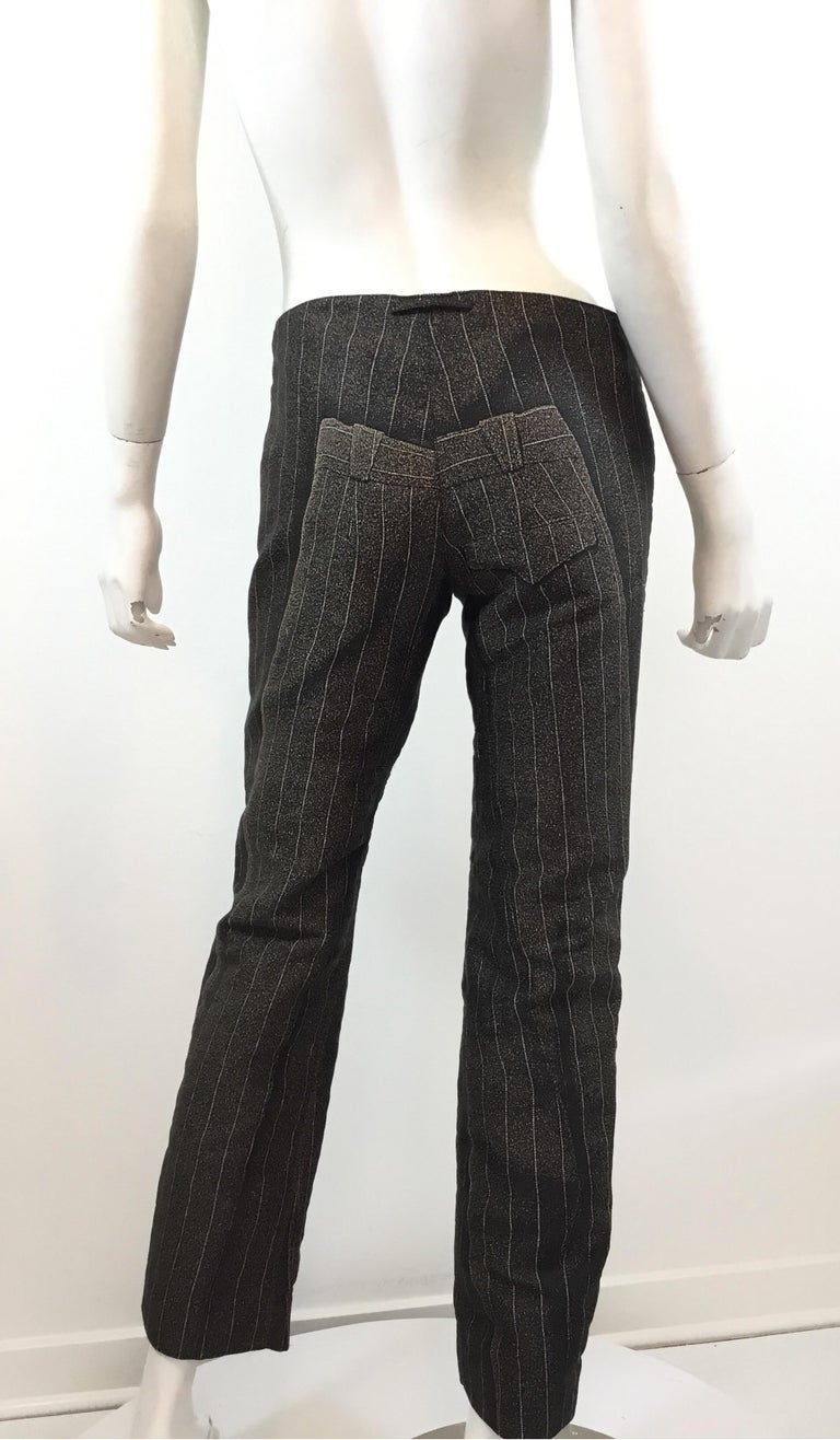Jean Paul Gaultier Pinstriped Pants on Pants In Excellent Condition For Sale In Carmel by the Sea, CA