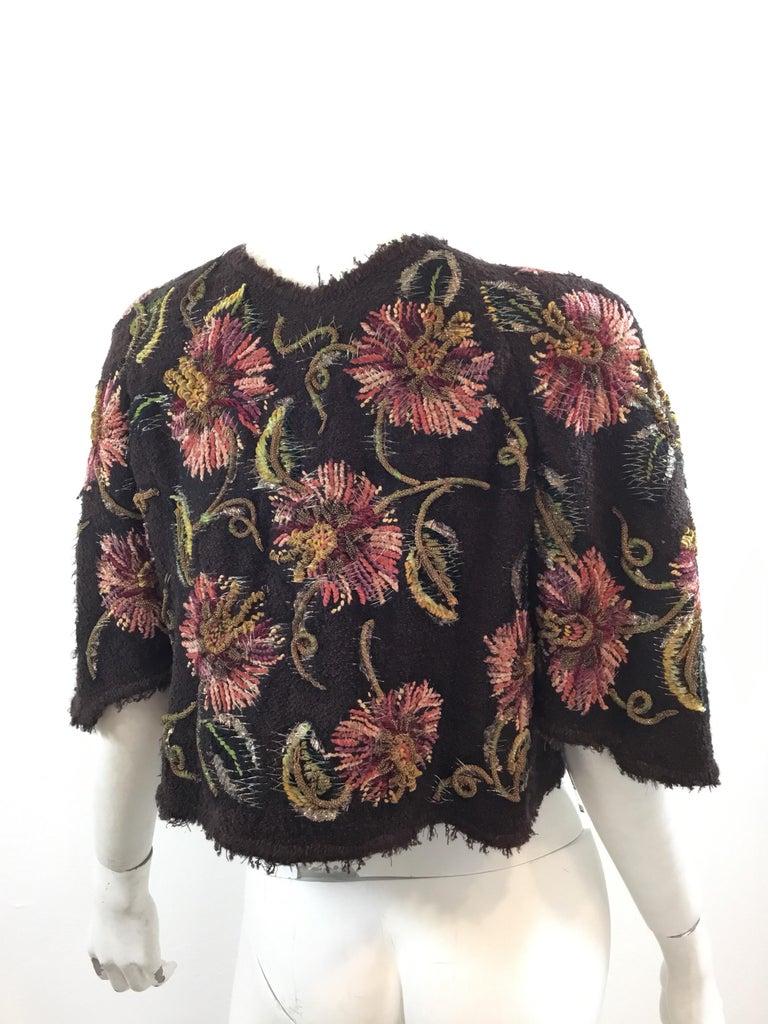 Women's Chanel Lesage Couture 1940's RARE Bolero Jacket For Sale