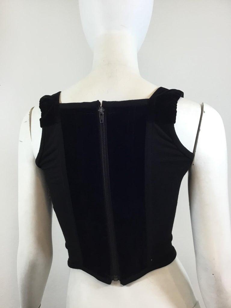 Black 1990's Vivienne Westwood Vintage Velvet Bustier Top For Sale