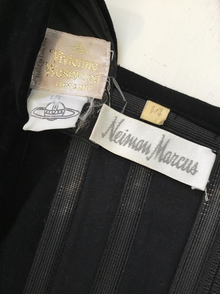 Women's 1990's Vivienne Westwood Vintage Velvet Bustier Top For Sale