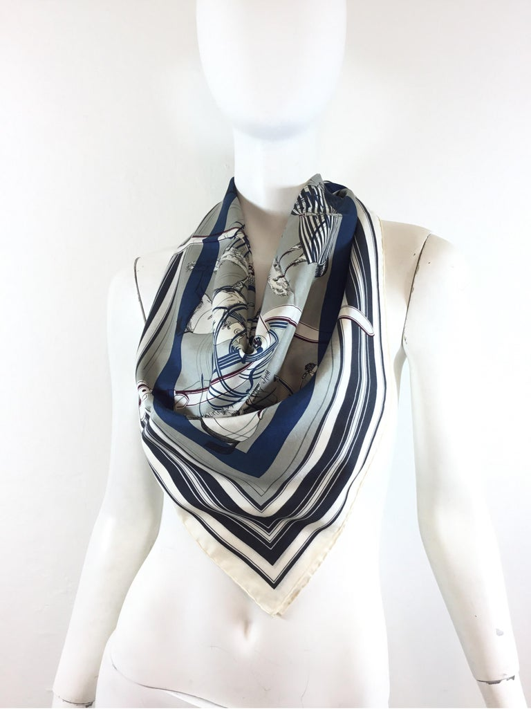 Hermes silk and cotton blend