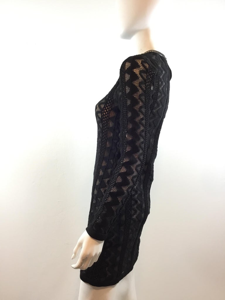 Louis Vuitton 2015 Spring Knitted Dress with Leather Trim In Excellent Condition For Sale In Carmel by the Sea, CA