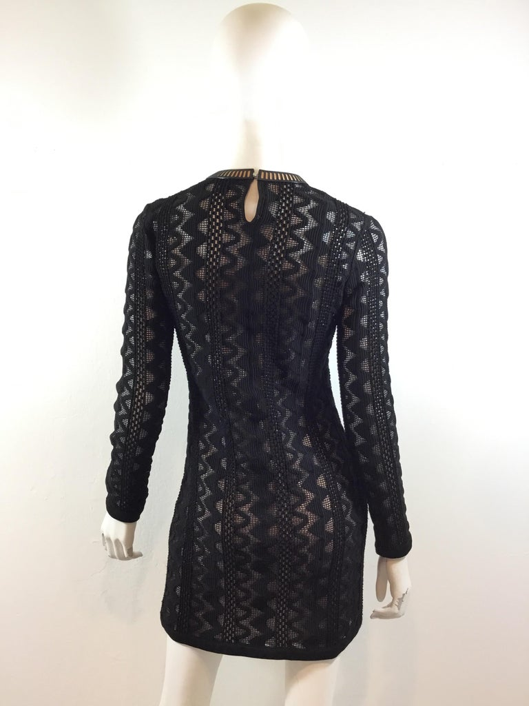 Women's Louis Vuitton 2015 Spring Knitted Dress with Leather Trim For Sale