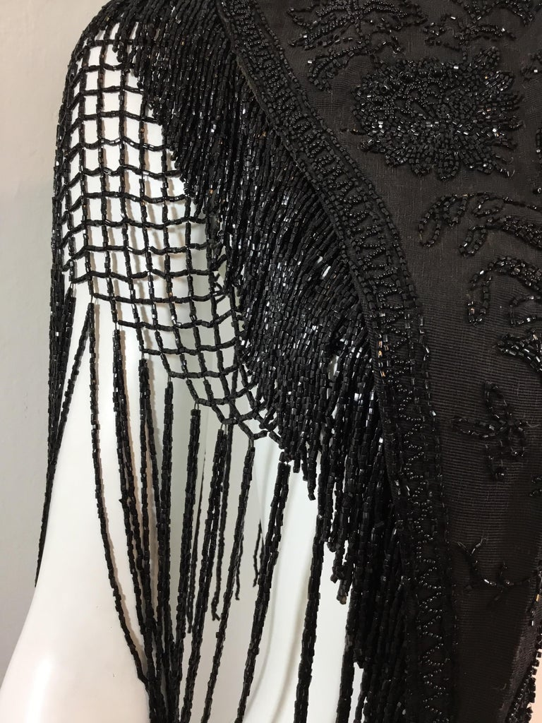 Victorian Black Beaded Collar Circa 1890's For Sale 1