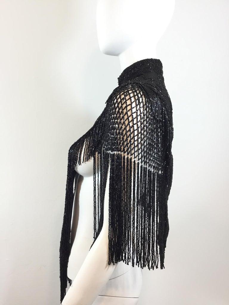 Victorian Black Beaded Collar Circa 1890's For Sale 2