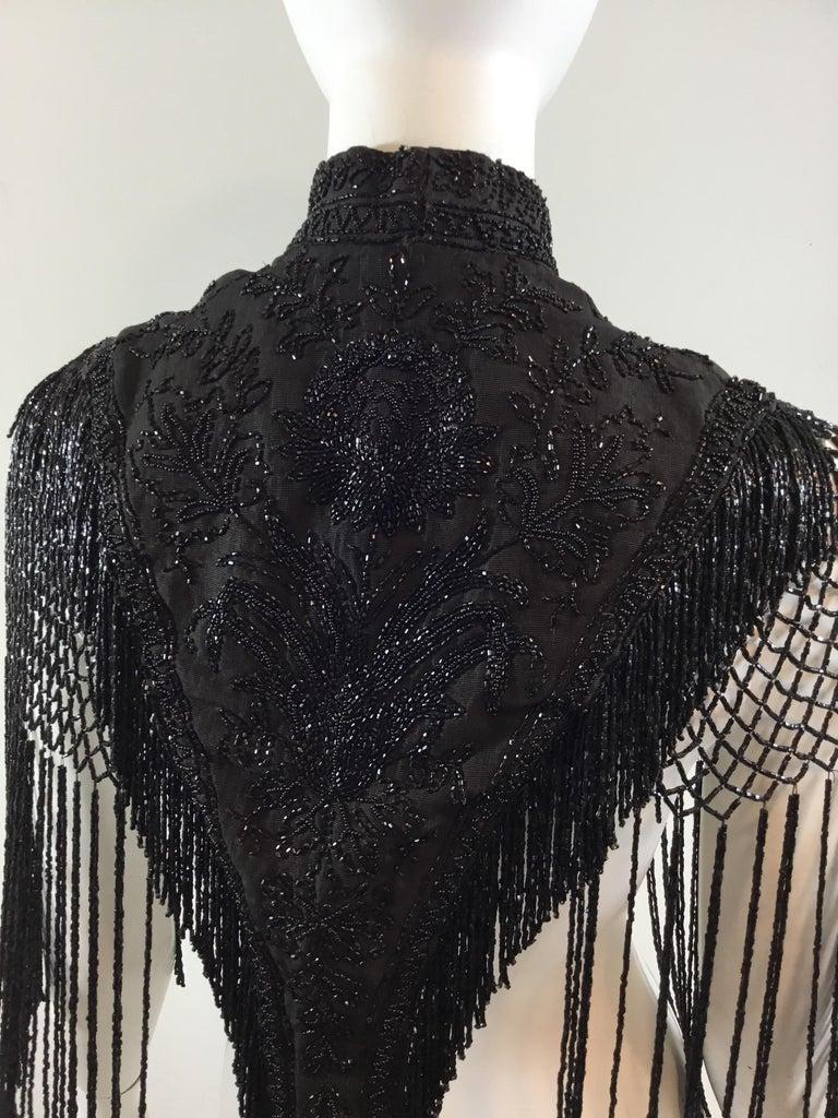 Victorian Black Beaded Collar Circa 1890's For Sale 4