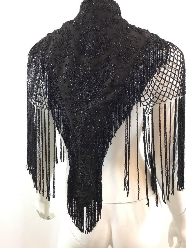 Victorian Black Beaded Collar Circa 1890's For Sale 5