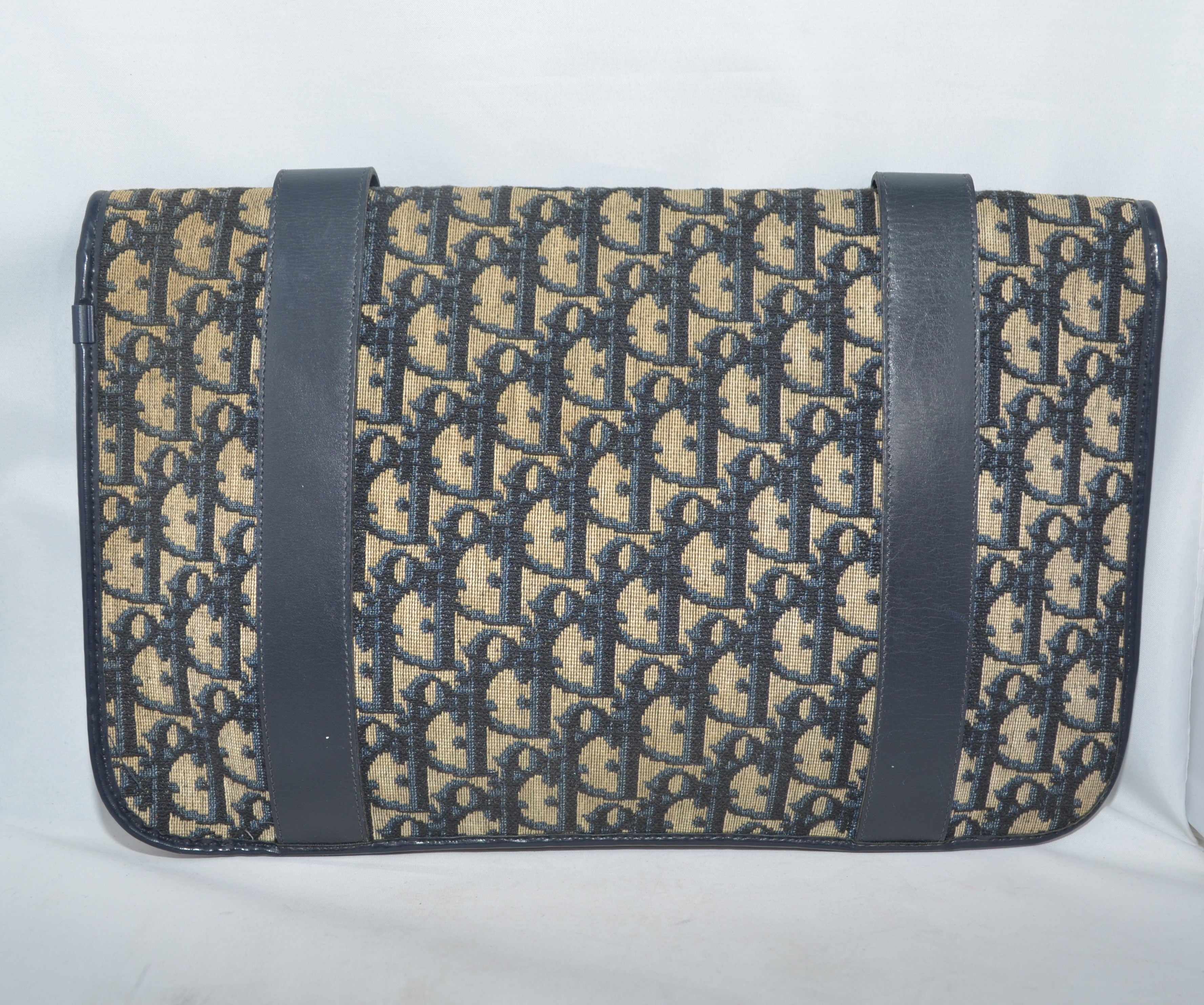1976e43e4f Christian Dior Vintage Canvas Clutch at 1stdibs