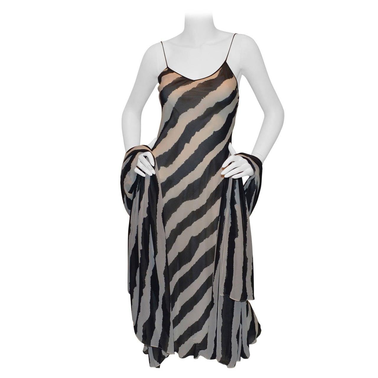 Bruce Oldfield Bias Cut Dress & Shawl