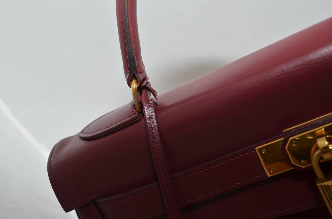 Hermes 1978 32cm Box Calf Kelly Handbag 1