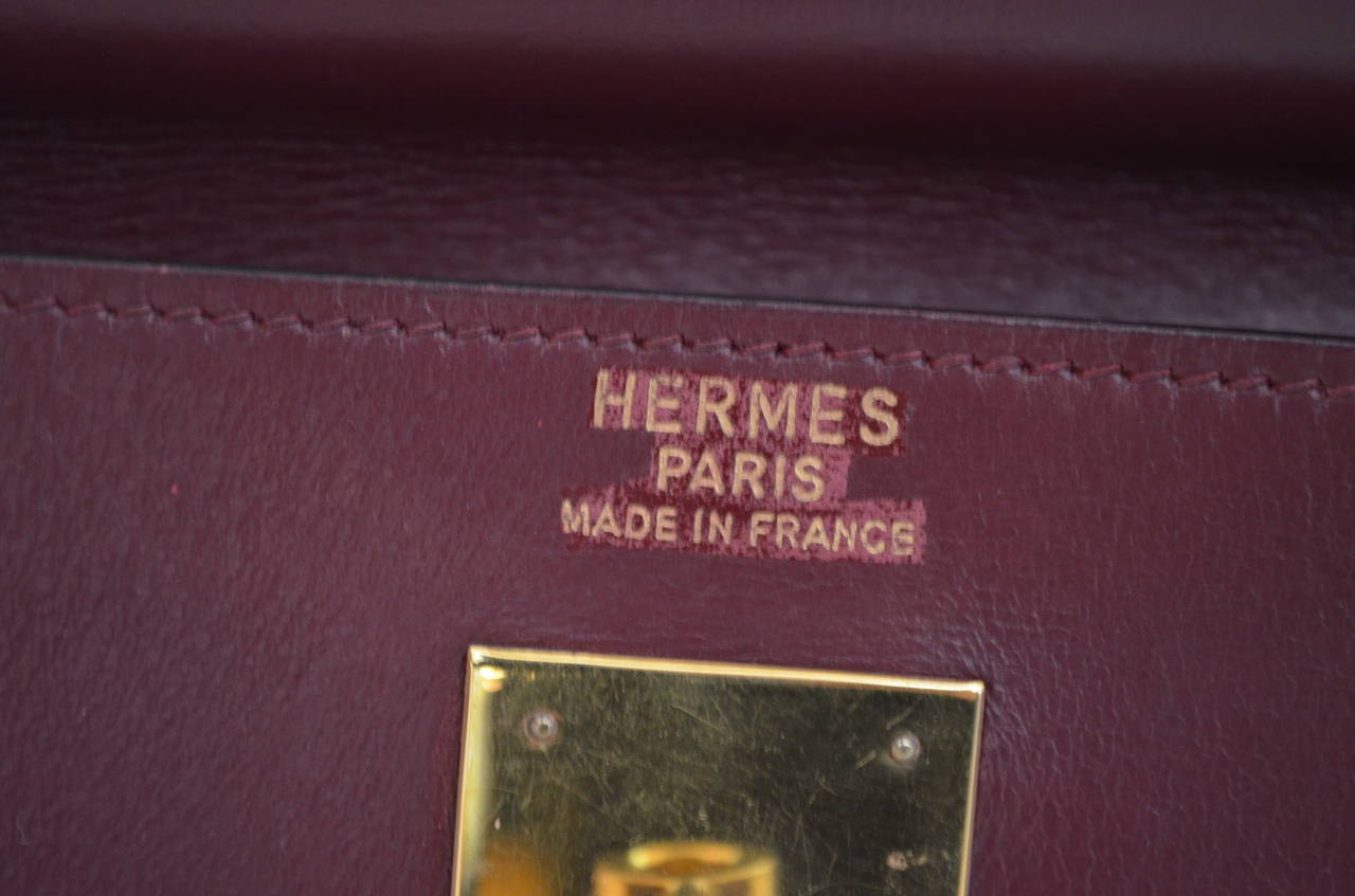 Hermes 1978 32cm Box Calf Kelly Handbag 3