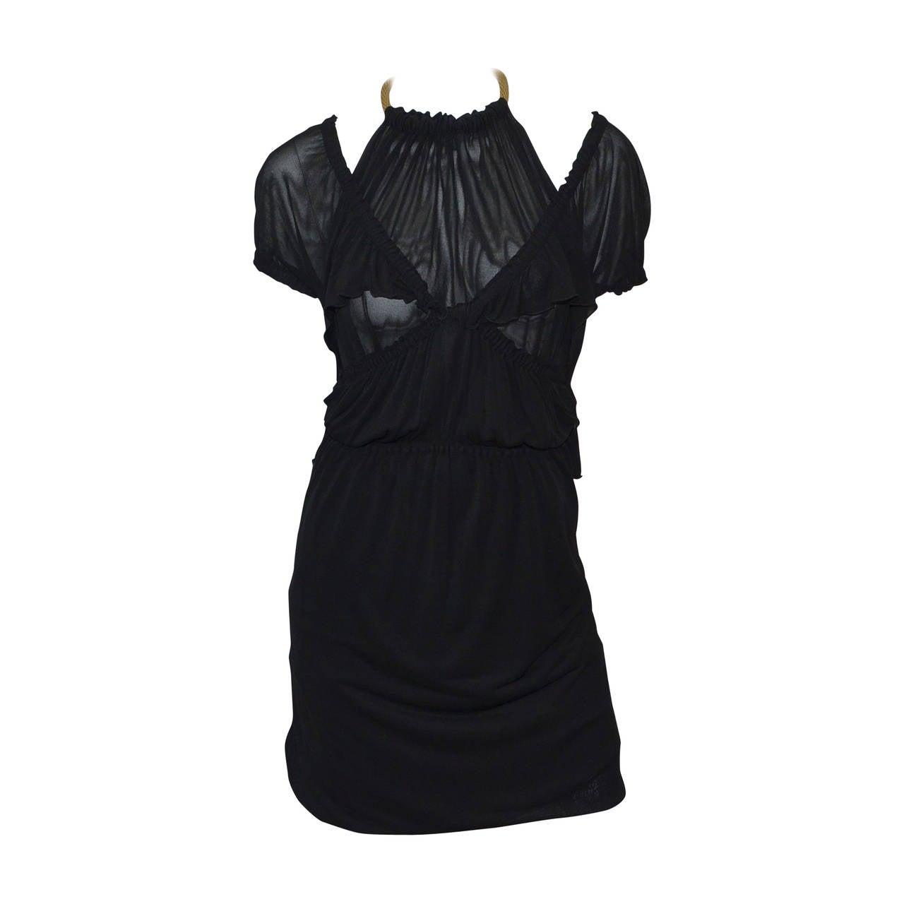 Yves Saint Laurent 1990s Jersey Halter Dress M