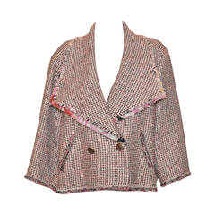 Chanel Spring 2011 RTW Pink Black Tweed Collar Jacket