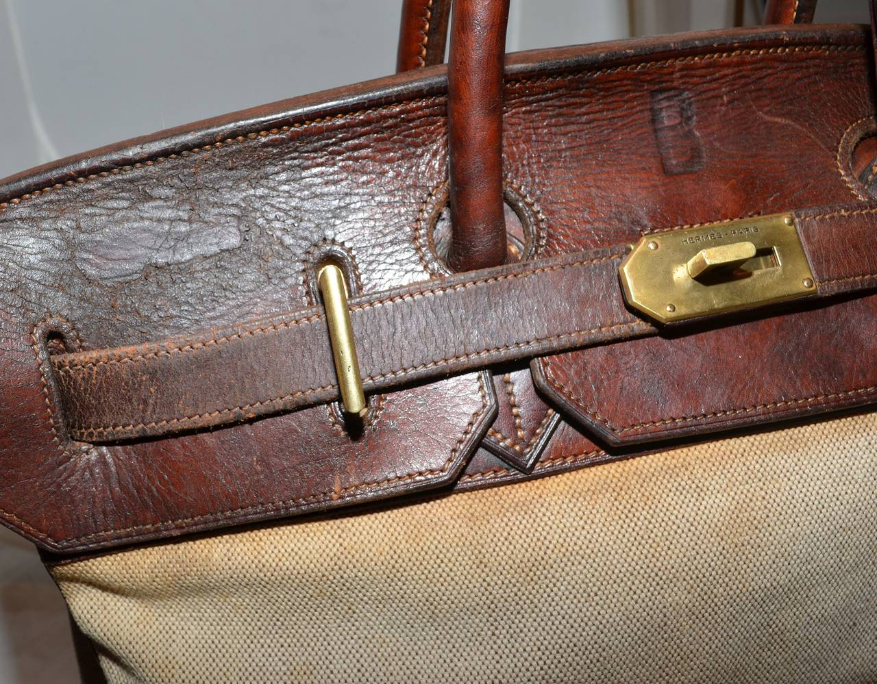 Hermes Vintage 1959 Haut a Courroie HAC Bag at 1stdibs