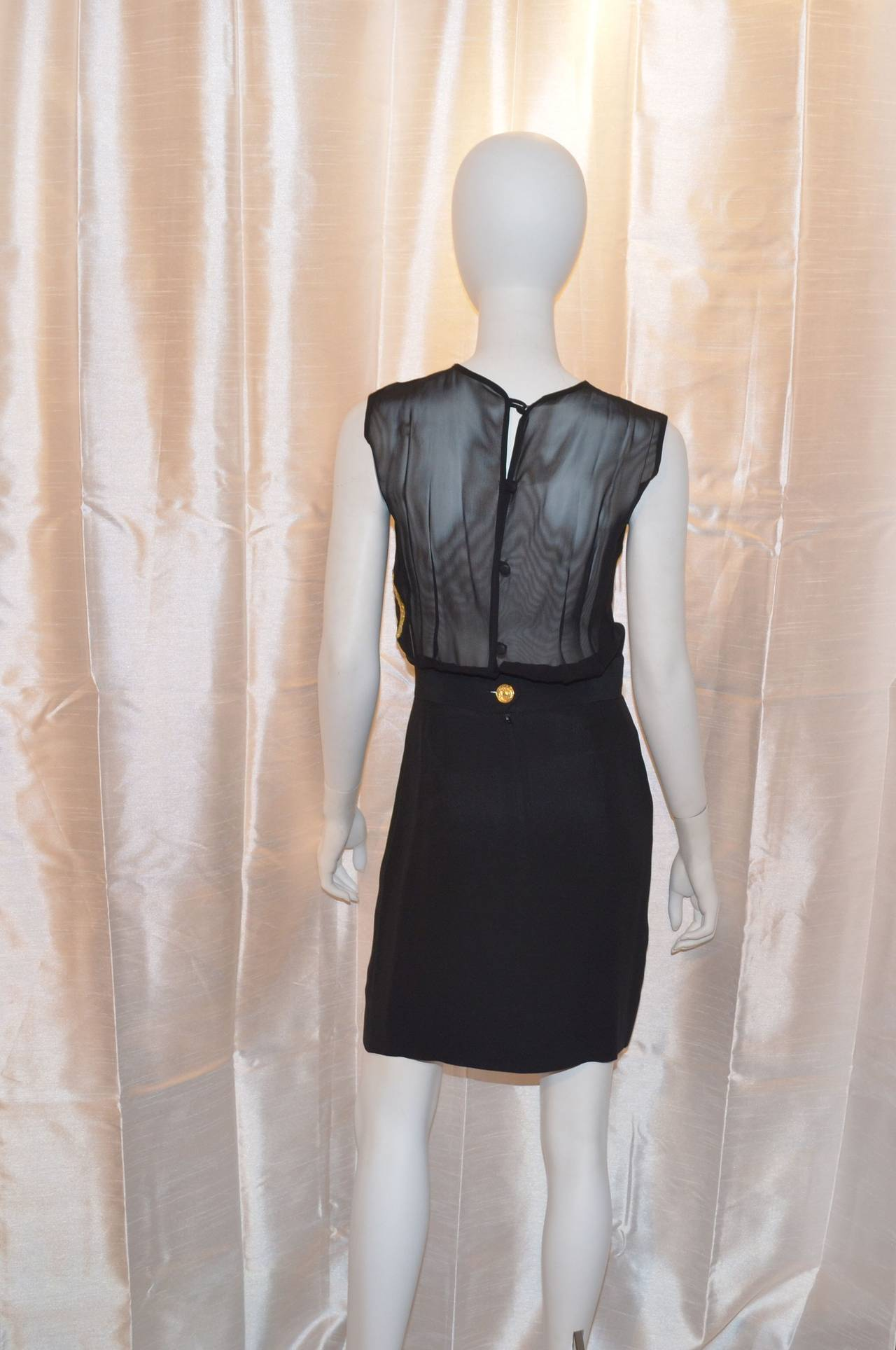 Black Moschino Cheap & Chic Peace Love Lips Iconic LBD Dress For Sale
