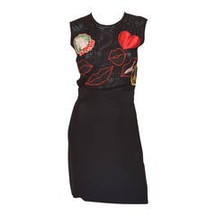 Moschino Cheap & Chic Peace Love Lips Iconic LBD Dress