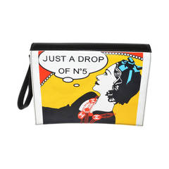 "Chanel '03-04 ""Just a Drop"" Pop Art Clutch Bold Red Yellow Blue Wristle"