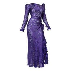 Yves Saint Laurent Rive Gauche YSL Vintage Gown