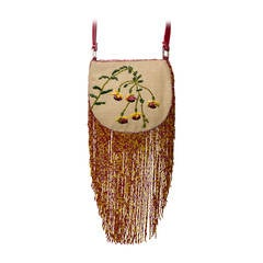 Valentino Vintage Purse with Beaded Fringe