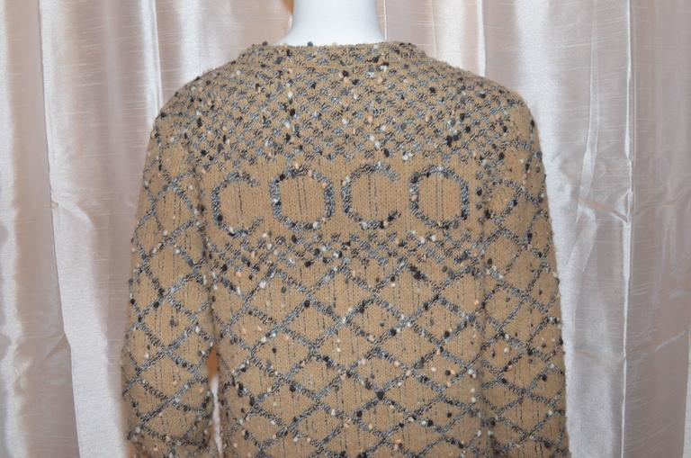 chanel 2001 coco sweater at 1stdibs. Black Bedroom Furniture Sets. Home Design Ideas